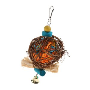 Papağan Rattan Topu Kafesi Oyuncak Kuş Oyuncakları