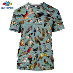SONSPEE Summer Casual Men T-Shirt Insects Birds 3d Printing t shirts Unisex Pullover Tops Novelty Streetwear Funny Short Sleeve