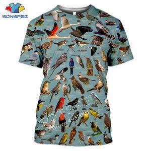 SONSPEE Yaz Casual Erkek Tişört Böcekler Kuşlar 3d Baskı t shirt Unisex Kazak Yenilik Streetwear Komik Kısa Kollu Tops