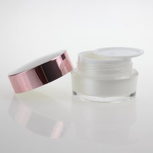 1 oz ovale Masque vide crème Container, 30g White Pearl Cosmetic Jar gros