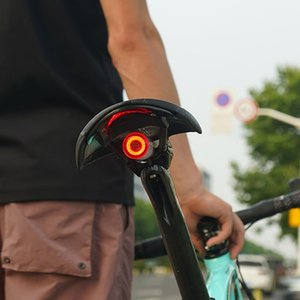 자전거 테일 라이트 자동 시작 / 정지 브레이크 감지 방수 자전거 스마트 브레이크 라이트 USB 충전식 LED