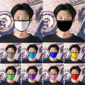 Color Mask 10 Blank Farben Pure Kids Anti-Staub-Mund Muffel Erwachsene Waschbar Wiederverwendbare Gesichtsmasken Mehrweg
