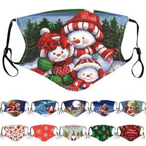 Christmas designer face mask kids Santa Claus Gift Snowflake Child Print Cartoon face mask Dustproof PM2.5 men women facemask