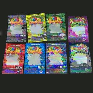 Nouveaux Dank Gummy Mylar comestibles Worms Patch Sacs 710 Sour Comestibles gélifiés Emballage pour Skittles Odeur Sacs Ziplock Sac Poly Proof