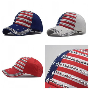 Personality Trump Hats Mens Women Hat National Flag Baseball Cap America Rhinestone Comfortable Sunshade Durable Best Sellers 10 9nx F2