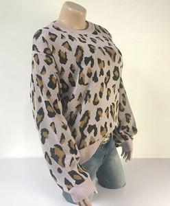 Leopard Print Knitting Sweaters Fashion Female Clothing 2020 Womens Designer Luxury Sweater Autumn Winter Lantern66