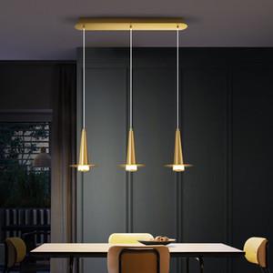 Momoda Brass chandeliers Fairy Hat Modern Industrial-Lamp for Dining-Room Bedroom Living-Room Kitchen lustres de plafond Lights