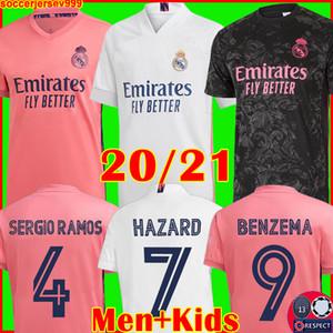 Camisetas de REAL MADRID 20 21 camiseta de fútbol HAZARD SERGIO RAMOS BENZEMA VINICIUS chandal de fútbol hombres + conjunto de kits para niños 2020 2021 de la soccer jerseys