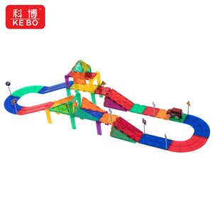 New product Color window magnetograph children's educational toy girl change dazzle color magic pure magnetograph block boy