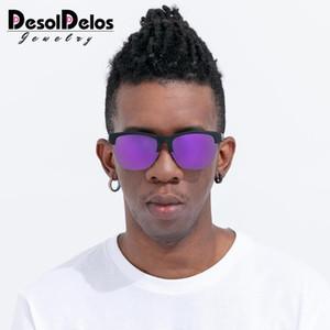 Sürüş Kadınlar Spor Gözlük UV400 için Yarı çerçevesiz Polarize Güneş Gözlüğü Erkekler Klasik Ayna Güneş Gözlükleri DesolDelos
