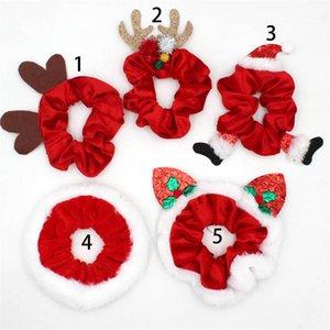 Weihnachten Frauen Scrunchies-Haar-Riegel-elastische Haar-Ring Designer Pferdeschwanz-Halter Stretchy Mädchen Scrunchy Dickdarm- Haarbänder New F91201