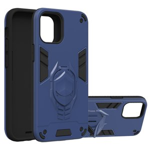 2in1 antichocs Holder Phone Case pour iPhone 11 Pro XS Max XR 7 8 Samsung A11 Note 20 S20 mobile cas Béquille