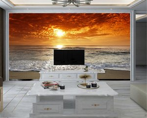 3d Modern Wallpaper Romantic Landscape 3d Mural Wallpaper Beautiful Sea Sunset Living Room Bedroom Wallcovering HD Wallpaper