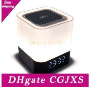 사향 Dy28 플러스 무선 4 0.0 블루투스 LED 램프 스피커 변경 가능 라이트 터치 피드백 알람 시계 억스 4000MAH