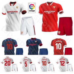 2020 футбол Sevilla FC 9 Люк де Йонг Джерси Севилья Set 11 Мунир Эль Haddadi 22 Franco Vazquez Kits рубашка Оливер Торрес Футбол