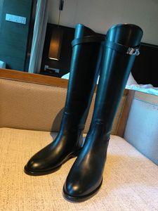 Novas h-botas Kelly botas retas de couro liso de fundo botas de cano alto sobredimensionada cavaleiros botas
