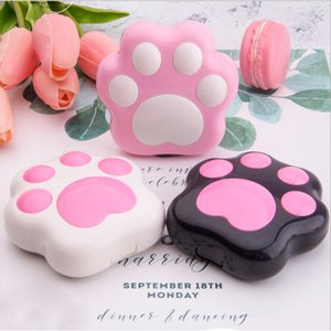 Cartoon Cute Plastic Dog Cat Contact Lens Case Mini with mirror Contact Lenses case Lovely Travel box Eyewear Accessories