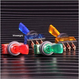 Wooeight Automotive Toggle Switch 3 Pin ON-OFF With Lamp 12V 20A ASW-13D LED Light Switch 4 Colors IpkQ#