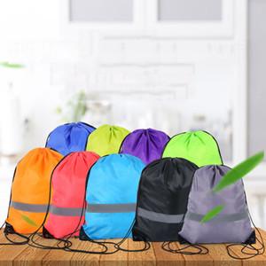 Yansıtıcı Şeridi Sırt Öğrenci Eğitimi Spor Polyester Sırt Çantası Paketi Pocket Yansıtıcı Şeridi İpli Çanta VT1627