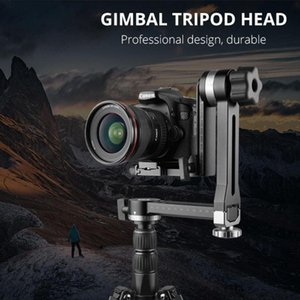 Stabilizers Vertical Gimbal Tripod Head Aluminium Alloy 1 4 Or 3 8 Screw For DSLR Telepo Lens Camera Quick Release Plate
