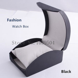 Wholesale Plastic Watch Box Black High Grade Brand Watch Case With Pillow Fashion Gift Box
