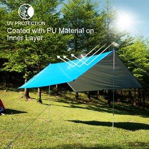 10x10 Anti-UV Waterproof Sun Shelter Hammock Canopy Moisture-proof Mat,camping Portable Survival Shelter Camping Equipment