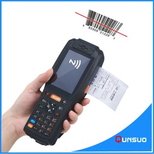 Portable android industrial pda scanner with printer