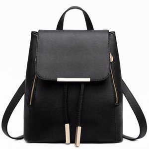 Black School Supplies Backpack Female PU Leather Backpack Japanese Street Bag Womens School Bag For Adolescent Girls Backpacks 4fbF#
