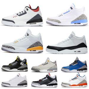 nike air jordon 3 retro jordans 3s jumpman Zapatos de baloncesto de Jumpman para mujer para hombre zapatillas de deporte de UNC Denim Varsity Royal Knicks Rivals hombre