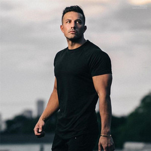 Tshirts Mens Designer T Shirts Fashion Solid Gym Sports Short Sleeve Tops Casual Running Fitness Summer