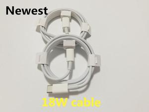 Original OEM 18W PD Cabo de carregamento USB C para 11 Pro Max Data Tipo C Carga rápida para o núcleo USB-C com embalagem