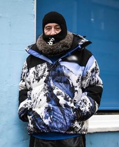 Jacket Mens de Down Outdoor Inverno Quente à prova de vento com capuz Jacket North Face Montanha Baltoro Designer Men Brasão pares da neve Jacket solto