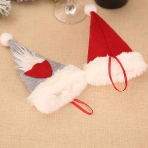 Cartoon Elf arbre de Noël arts de la table couverture de caisse de couteau fourchette rouge de Noël festive Accueil accroche Party drop ship décoration