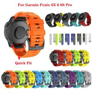 JKER 26 22MM silicone Quick Release pour Garmin Bracelet Bracelet Fenix 6X Pro Montre Easyfit Bracelet Bracelet Pour Fenix 6 Pro Montre