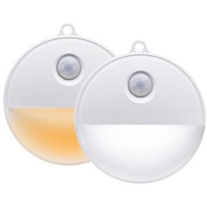 Induction LED Lamp Round Human Body Motion Sensor Night Light Battery Power LED Light Children's Night Light for Home