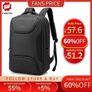 Tigernu 15.6 inch Men Anti-thief Laptop Backpack TPU Waterproof Male Bag USB Charging Travel Bag For Men High Quality Mochila