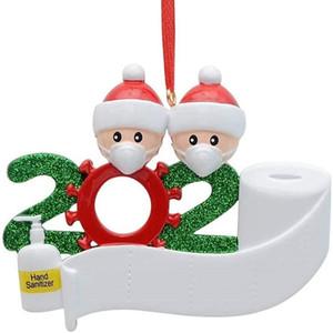 2020 Карантин Рождество рождения партии украшения подарки продукт персонализированный семьи из 4 Украшения Pandemic социального дистанцирования