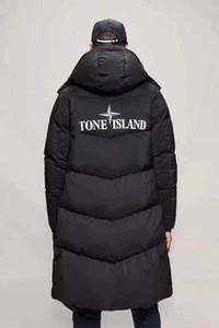 Üst Sürüm Yüksek Kaliteli Erkek Tasarımcılar Kış Maya Siyah Lüks Yansıtıcı Uzun Down Coat Ceket Moda Kazak Parka Hoodie WINDBREAKER