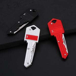 Mode Tendance Multifonction Carte de clé Portable Portable Poche pliable Mini Camping Key Bague Porte-clés à l'extérieur