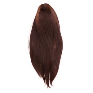 40cm Puppen Mittel lange Gerade Perücke Haar für 1/3 BJD Puppen DIY machen Reparatur
