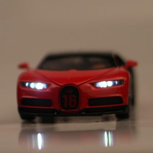 Дешевые 1: 32 Bugatti Chiron сплава автомобиля Die -Casting Модель автомобиля сплава Die -Casting модели серии Оттяните детские игрушки Gift Show
