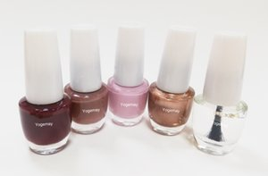 Yogemay Nail Polish Collection,5 Assorted Nail Color Shades, Easy to Apply and Quick to Dry, nice gift set