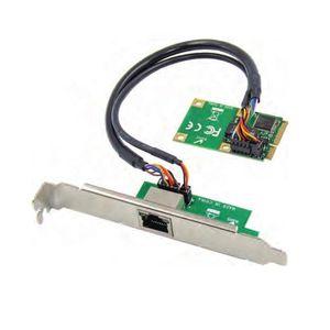 Placa de rede mini-PCIe Para Single Port RJ45 Gigabit Ethernet NIC Intel 10/100 / 1000Mbps JL82574L Chipset Mini PCI-E