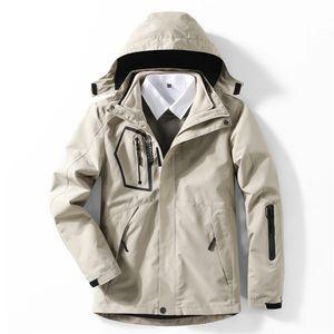 Winter 3in1 Flece Deatach Куртка Мужчины Женщины Кемпинг Рыбалка Пешие прогулки Восхождение Лыжные Куртки Водонепроницаемые Дышащиеся Негабаритные 5XL Пальто