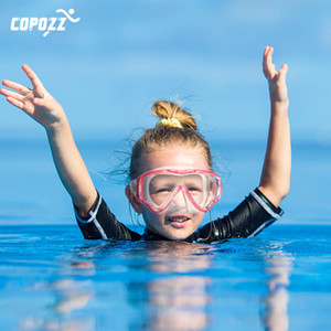 COPOZZ Underwater Scuba Diving Mask and Snorkel Anti-Fog Goggles Glasses Diving Swimming Easy Breath Tube Set for Kids Children