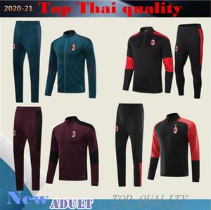 2020 2021 veste de survêtement de football AC 20 21 PIATEK IBRAHIMOVIC maillot de foot ROMAGNOLI mIlan football hommes costume d'entraînement