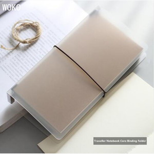 Matte Travelers Notebook Cover Transparent File Book PP Standard Size Inner Core Storage Book Office And School-supplies Escolar C0924