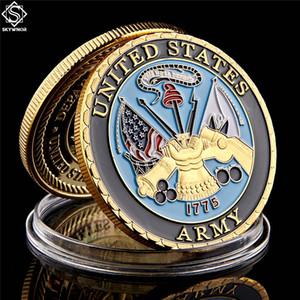 1775 Департамент США Navy Army Позолоченного Цвет новизна Памятной Military Вызов Коллекция монет и подарки