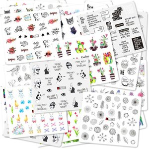 Quality50 48pcs Lot Butterfly watermark slider nail stickers DIY Transfer Sticker Decals Nail Art Decorations Accessories