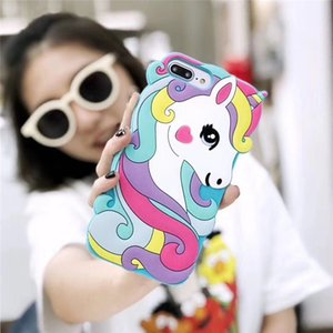 Cartoon Rainbow horse Silicone Case for iphone 11 Pro Max X XS MAX XR 6 6s 7 8 plus soft shockproof Cover Dropshipping